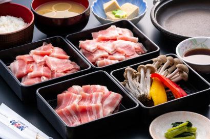 7・8月限定 豚肉食べ放題スタミナたっぷり焼きしゃぶ御膳