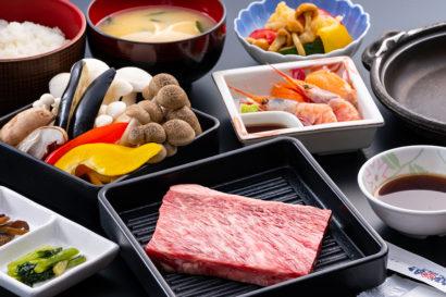 地元の季節野菜たっぷり 150g国産牛ステーキ御膳