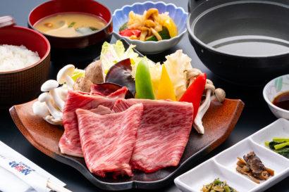 地元の季節野菜たっぷり国産牛しゃぶしゃぶ御膳
