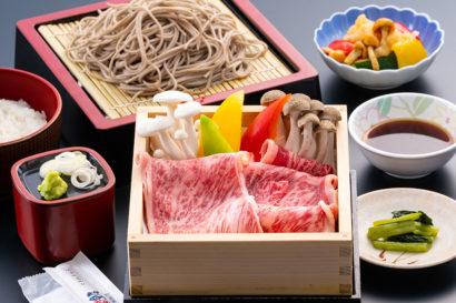 地元の季節野菜たっぷり国産牛セイロ蒸し御膳